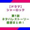 【ドラマ】「シャーロック」1話のネタバレとストーリー&感想まとめ!松本まりかが熱演!