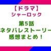 【ドラマ】「シャーロック」5話のネタバレとストーリー&感想まとめ!