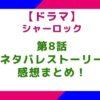 【ドラマ】「シャーロック」8話のネタバレとストーリー&感想まとめ!