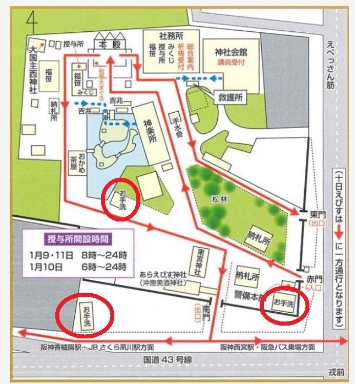 西宮神社トイレの場所