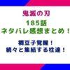 【鬼滅の刃】185話ネタバレ感想まとめ!!禰豆子覚醒!続々と集結する柱達!