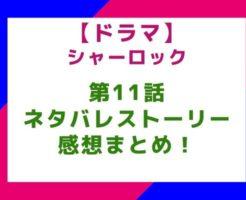 【ドラマ】「シャーロック」11話(最終回)のネタバレとストーリー&感想まとめ!