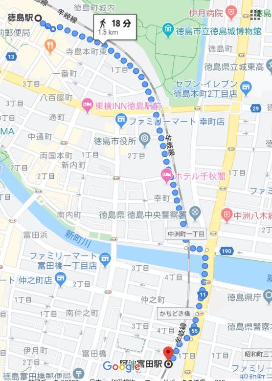 徳島駅~阿波富田駅間(牟岐線)