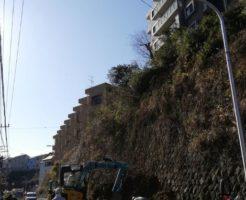 神奈川県逗子市池子2丁目で土砂崩れ