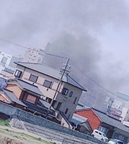 佐賀県佐賀市多布施4丁目付近で火事(火災)