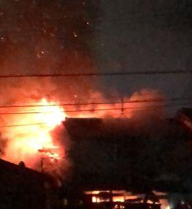 兵庫県川西市久代2丁目で火事(火災)