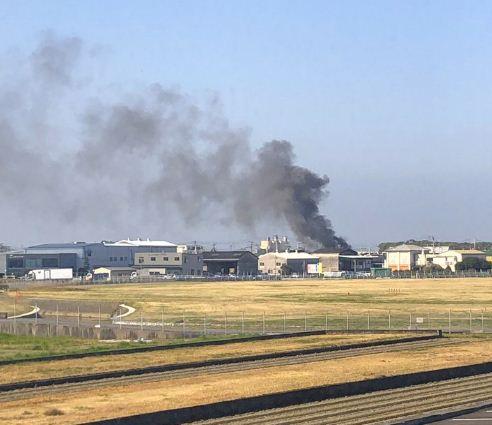 愛媛県松山市西垣生町付近で火事(火災)