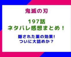 【鬼滅の刃】197話ネタバレ感想まとめ